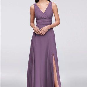 Surplice Tank Long Chiffon Dress